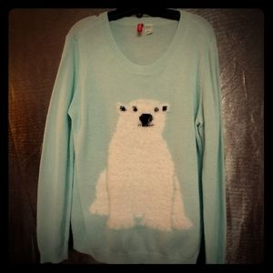 H&M Divided Polar Bear Sweater Medium